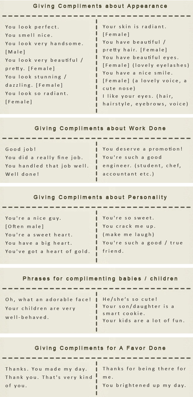 How to make compliments