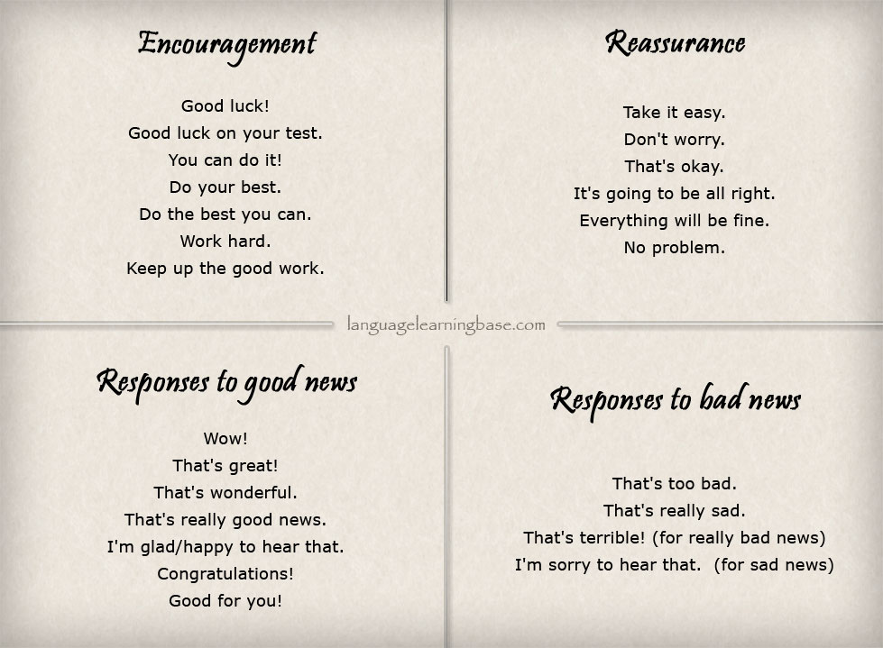 English Phrases for Encouraging Someone - learn English ...