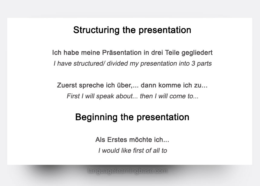 Give an amazing presentation in german tips language phrases tips for giving a great presentation m4hsunfo