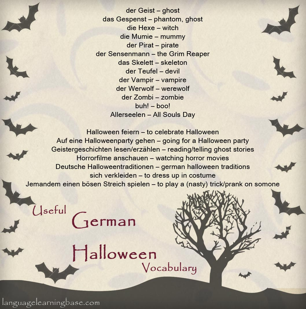 halloween vocabulary in german wwwgermanforspaldingorg - Halloween Vocab Words