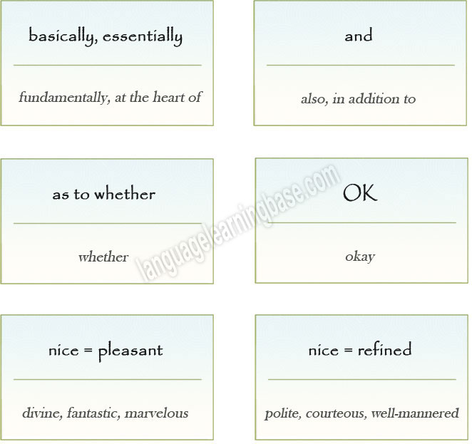 10 Overused Words And What To Use Instead Learn English English