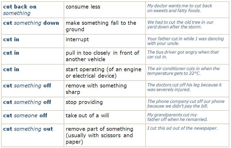Useful Phrasal Verbs (check, come, cut) - learn English,vocabulary