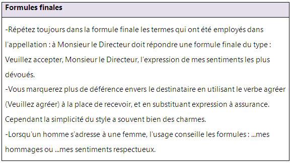 formule de politesse lettre directeur Formules de politesse pour vos lettres et courriers   learn French  formule de politesse lettre directeur