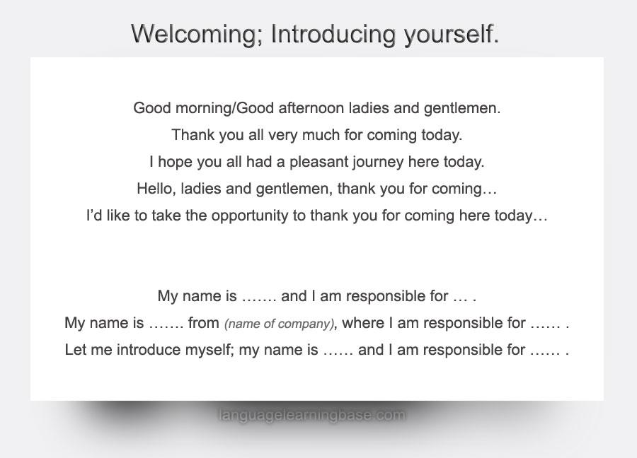myself presentation in english