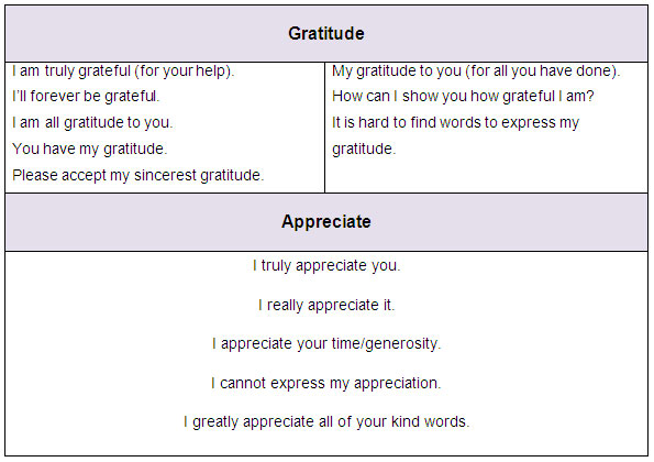 english phrases to say thank you learn english vocabulary