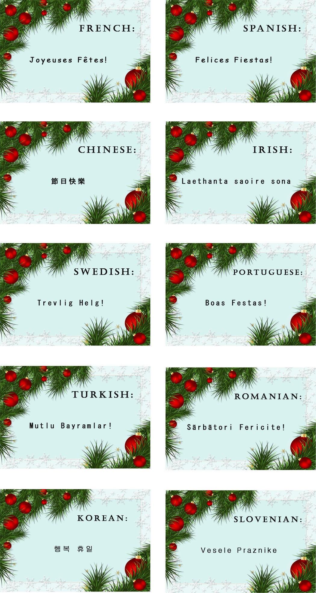 happy holidays in 20 different languages merry christmas